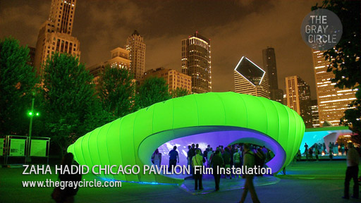 Zaha Hadid Chicago Pavilion Installation Art - The Gray Circle 3
