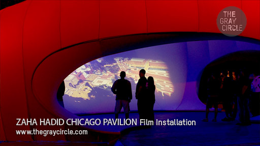 Zaha Hadid Chicago Pavilion Installation Art - The Gray Circle 1