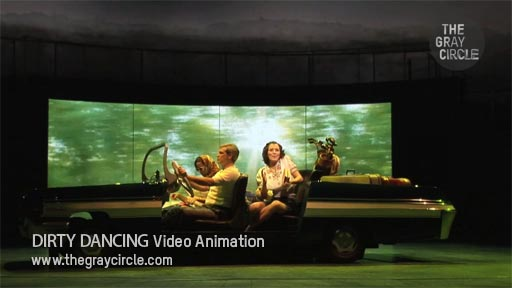 DIRTY DANCING Video Animation on stage - The Gray Circle 1