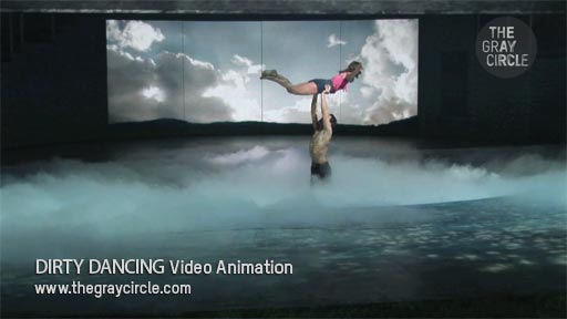 DIRTY DANCING Video Animation on stage - The Gray Circle 2