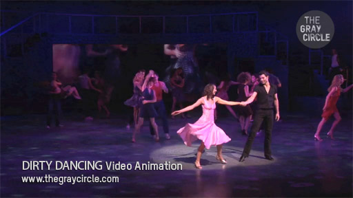 DIRTY DANCING Video Animation on stage - The Gray Circle 3