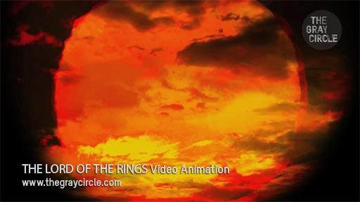 THE LORD OF THE RINGS Video Animation on stage - The Gray Circle