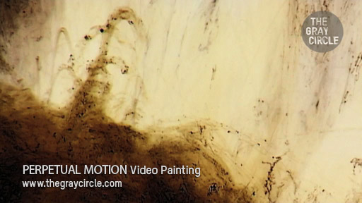 PERPETUAL MOTION Video Paintings - The Gray Circle 2