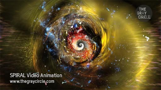 SPIRAL Video Animation on stage - The Gray Circle 4