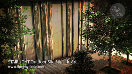 STAIRLIGHT Outdoor Site Specific Art concept image - The Gray Circle 1